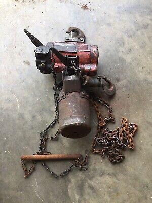 Ingersoll-rand Aro 14 Ton 550 Lb Pneumatic Air Chain Hoist 7718e