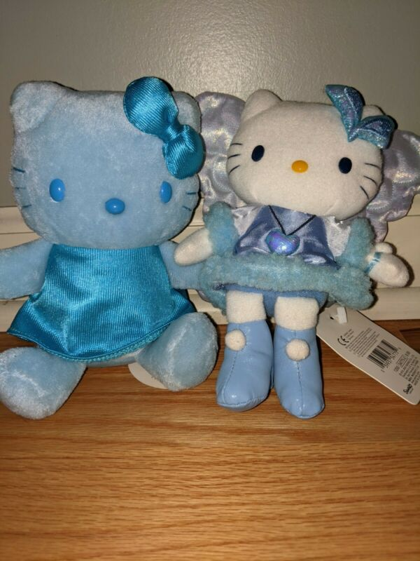 Vintage small Plush Sanrio- Fairy Hello Kitty Stuffed   feng shui plush blue