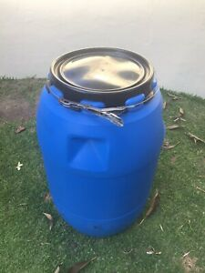 Plastic storage barrel
