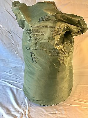 US Military WATERPROOF BAG CLOTHING BAG WET WEATHER BAG LAUNDRY BAG No String