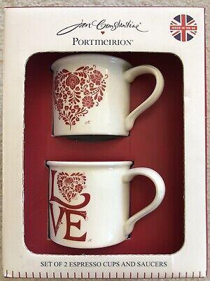 Jan Constantine Espresso Mugs Pair NEW