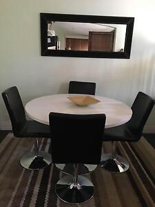 White table with black chairs Toodyay Toodyay Area Preview