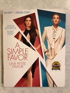 Blu ray A Simple Favour. READ AD PLEASE