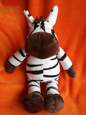 "Tesco Zebra  soft toy baby comforter plush 2010 14"""