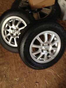 4 Rims and tires