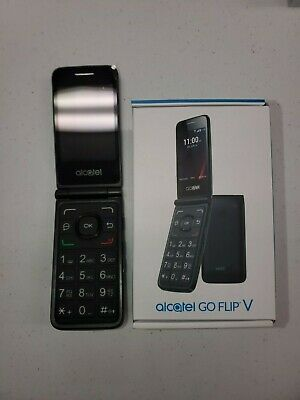 "Alcatel- Go Flip V - 4G LTE - Black (Verizon) Basic 4G Flip Phone ""Big Numbers"""