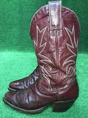 666cebd4d9c Vintage Red Leather Cowboy Boots w Bandana Fabric Top