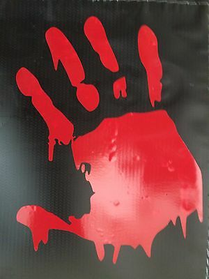 Bloody Hands (WALKING DEAD BLOODY HAND ZOMBIE HALLOWEEN DECAL STICKER VINYL WALL LAPTOP CAR)