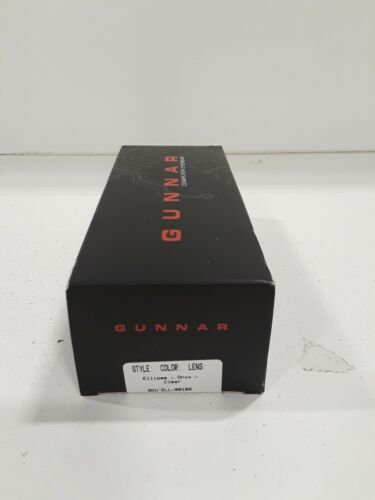 Gunnar Elipse ELL-00109 Gaming And Computer Eyewear Onyx With Clear Tint