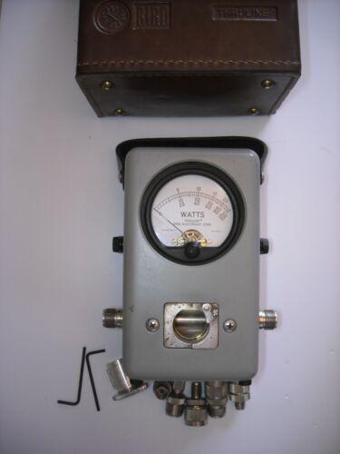 Bird Model 43 Thruline Wattmeter - 50 OHMS - With Leather Case & connectors.