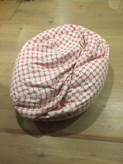 Pink Pottery Barn Polka Dot Bean Bag