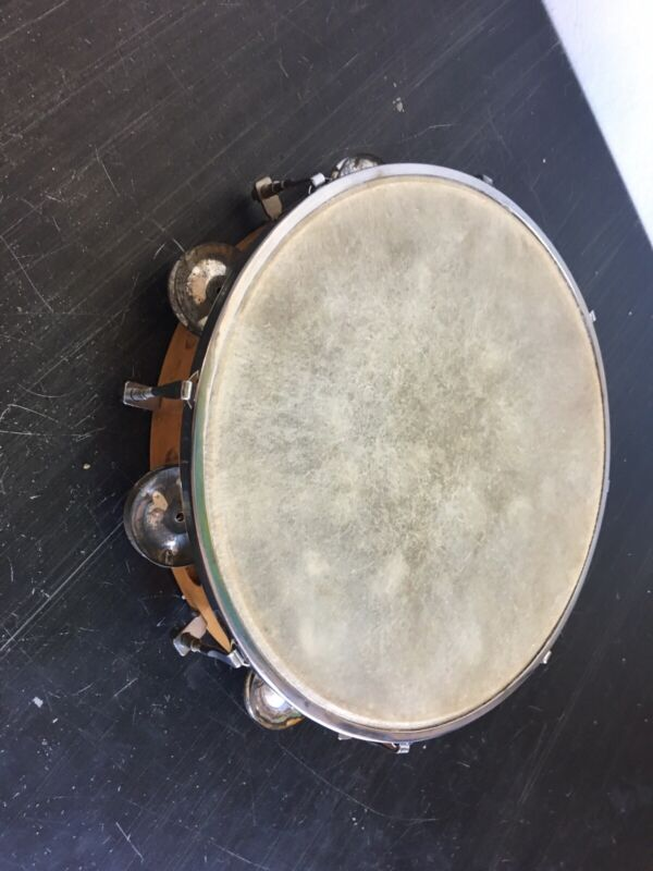 Vintage Tambourine With Head