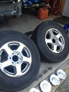 """GM 16"""" Alloy wheels and tires"""