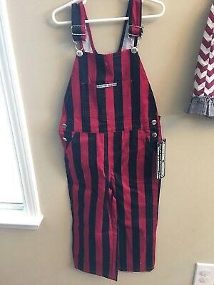 NWT Game Bibs 4T Overalls Football Georgia Black Red USC Oklahoma Alabama Wiscon
