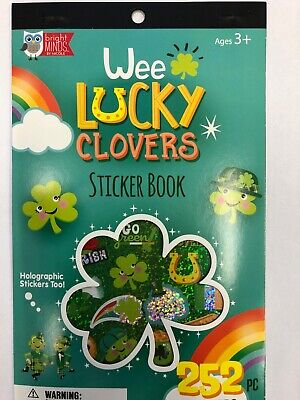 St Patrick's Day Party ( St. Patrick's Day Sticker Book 5 pages Teacher Supply Party Favors glitter)