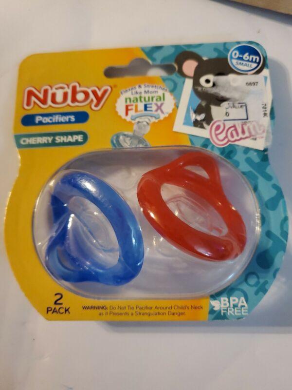 Nuby NaturalFlex Pacifier - Cherry Silicone Baglet - 2 Pack - 0-6 Months