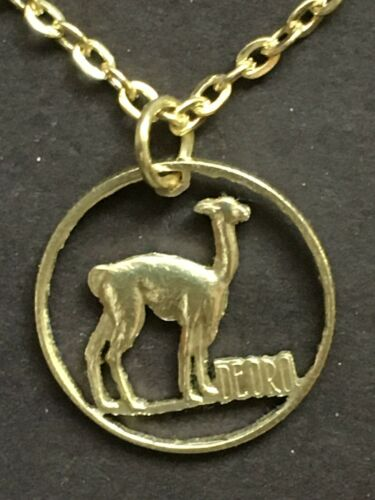 Llama Calf Cut Coin Pendant from Peru