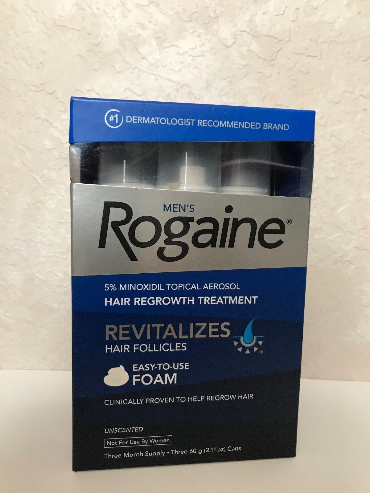 Men's Rogaine 5% Minoxidil Hair Regrowth Treatment Foam - 3