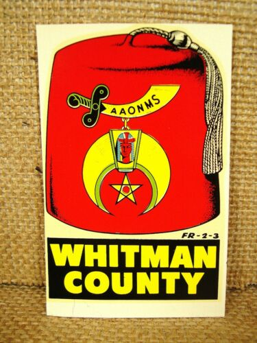 Vintage Original Whitman County Shiners Water Decal AAONMS Travel Decal
