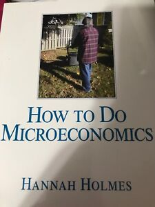 How to do Microeconomics