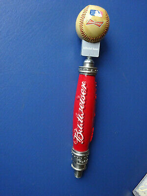 Rare Budweiser Official Major League Baseball 15 Inch Beer Tap Handle