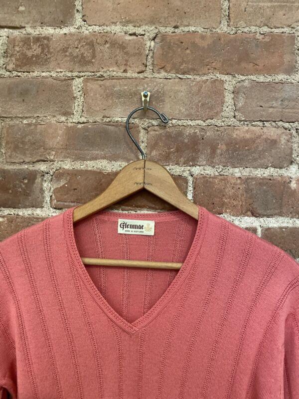 Glenmac Women's Sweater, Sz Small Merino/Silk/Cashmere Rose Scotland