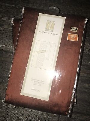 Each Silk Curtain ((2) NIP Empire Silk Window Curtain Panels by CHF & You, Orig $59.99 each )