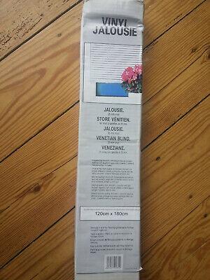 Vinyl Jalousie weiß, 120 x 180 cm, Neu, OVP Lagerspuren, Versand nur DPD, bitte  ()