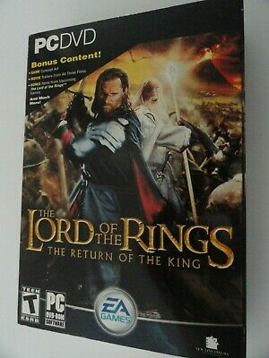 The Lord of the Rings: Return of the King (DVD-ROM)  2003 PC GAME NEW (Lotr Return Of The King Pc Game)
