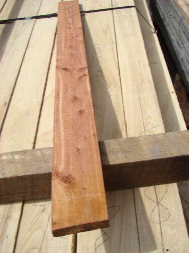 "6 Pcs of Aromatic Eastern Red Cedar Rough Cut 1x4 Boards 48""+ long"