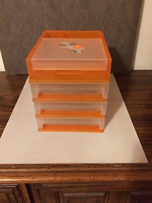 Desk Top Organizer 3 Drawer Plus 3 Compartments - 1 Covered Excellent Condition
