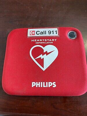 Philips Heartstart Fr2 Aed Defibrillator Pads Battery Case