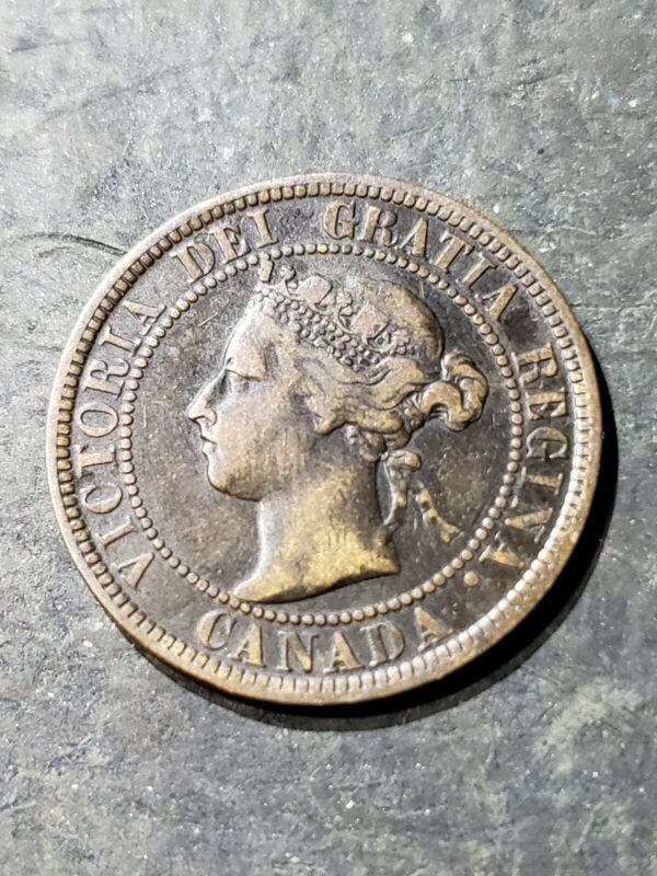 1898 H  Canada Canadian Large One Cent #4