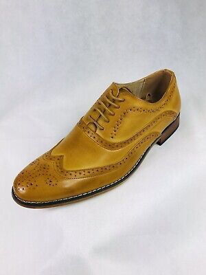Uv Signature Men's Wing Tip Lace-Up Dress Shoes - Rusty...