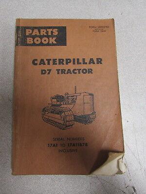Caterpillar Cat D7 Tractor Parts Catalog Book Manual 17a1 17a11878 1973