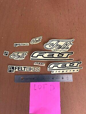 "Felt Bikes 3-1//2/"" Print black//clear Sticker Decal"