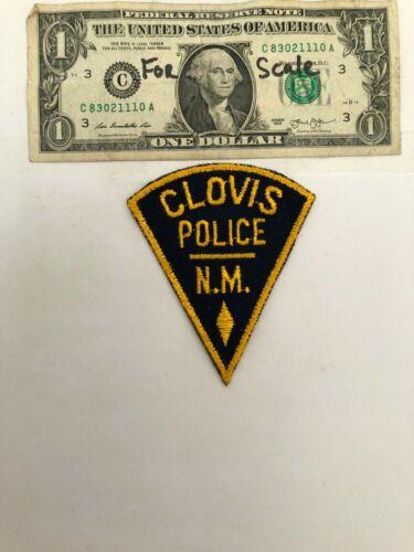 Clovis New Mexico Police Patch Un-sewn great condition