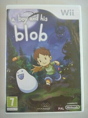 Nintendo Wii A BOY AND HIS BLOB game PAL complete 2008 Majesco