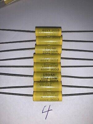 Mallory Polyester Film Capacitors .1 F 400 V 5 Tolerance Quantity Of 8 New