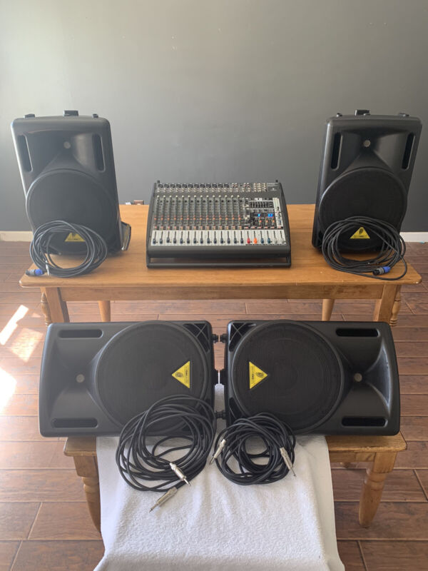 Full Profesional Euro power sound system with Behringer Speakers Ready To Play.