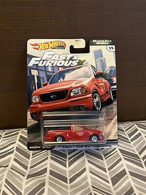 2020 Hot Wheels Fast And Furious Red Ford F-150 SVT Lightning Motor City Muscle