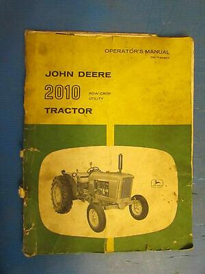 John Deere Vintage 2010 Tractor Operators Manual Om-t14690t