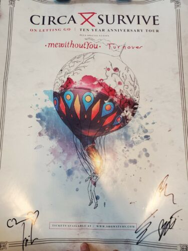 Circa Survive On Letting Go 10 Year Anniversary Tour Autographed Poster