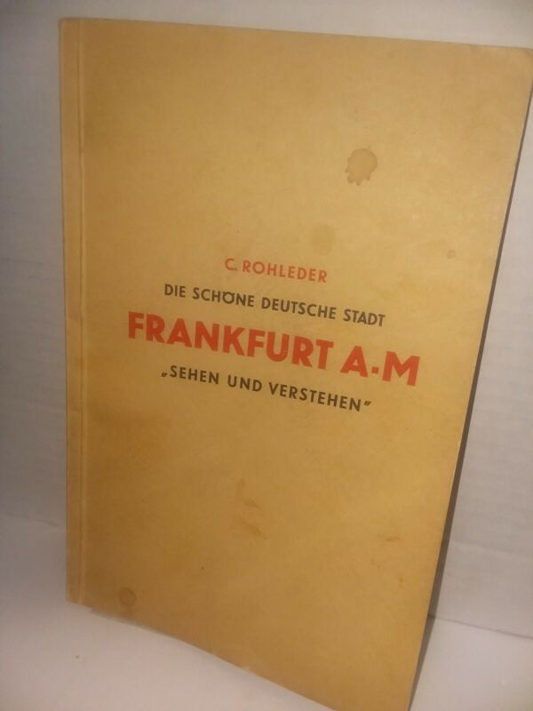 1933 Frankfurt Germany City Guidebook with foldout Map