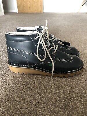 Kickers Kick Hi Classic Boots Navy Blue Size 8