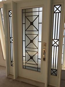 Custom entrance door with side light c/w glass