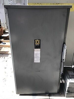 Square D Safety Switch Non Fused Disconnect Hu365r 400 Amp 600 Volt Nema 3r