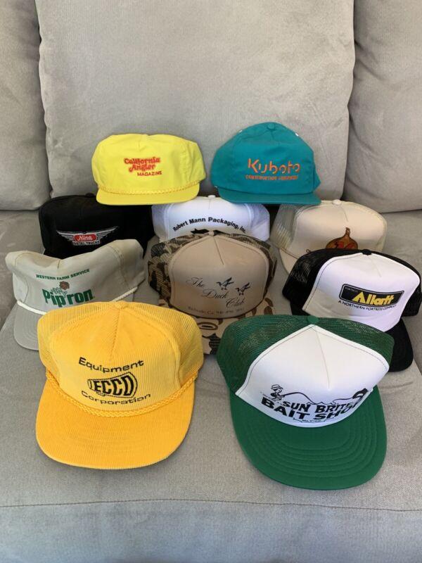 Vintage Hat Lot 10 Hats Total