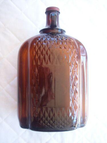1 Gallon Amber Glass Wine Bottle Jug - Finger Loop - Original  Lid