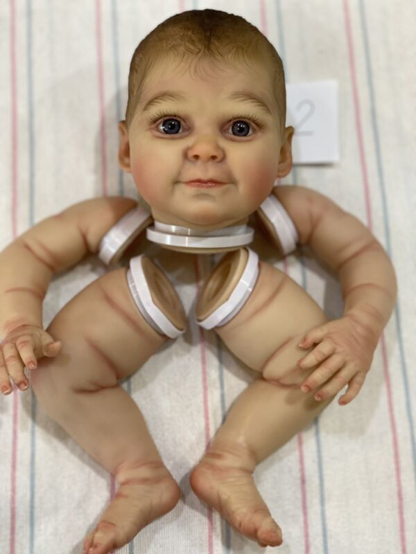 Realistic Baby Grace  Kinby Reborn Doll Kit, Hand painted, Ready To Assemble #2